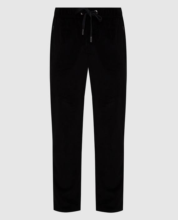 Черные вельветовые брюки