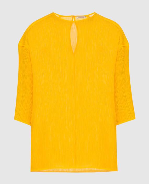 Темно-желтая блуза