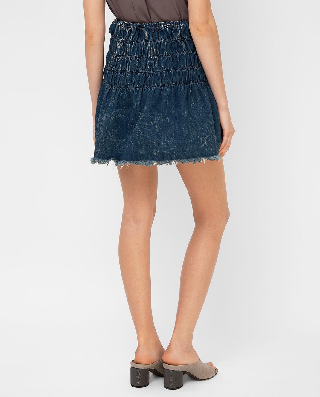 Chloe Темно-синяя джинсовая юбка 16EDJ02 изображение 4