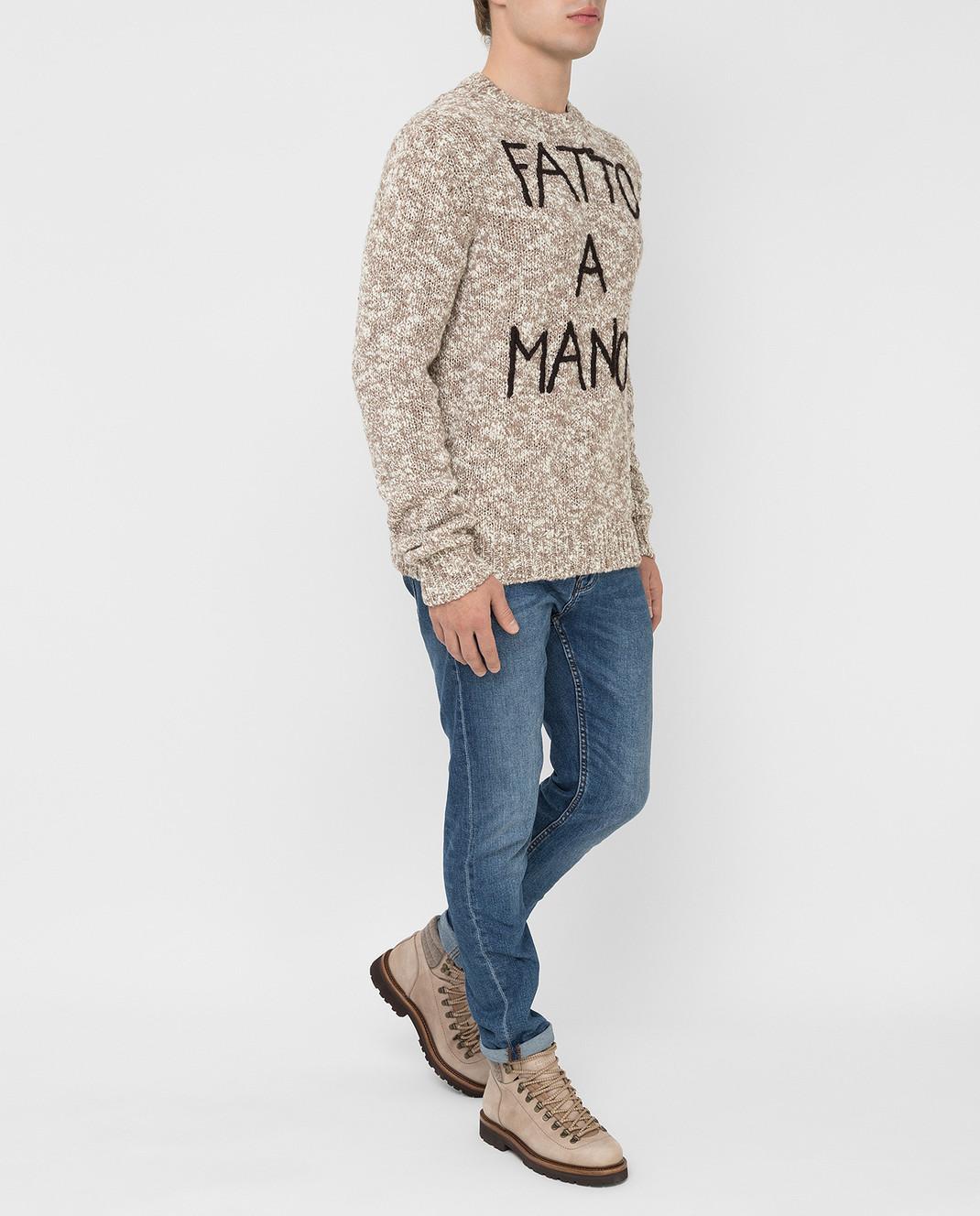 Dolce&Gabbana Бежевый свитер из шерсти изображение 2