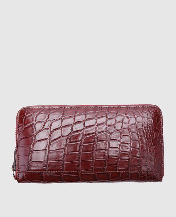 Бордовый кожаный кошелек