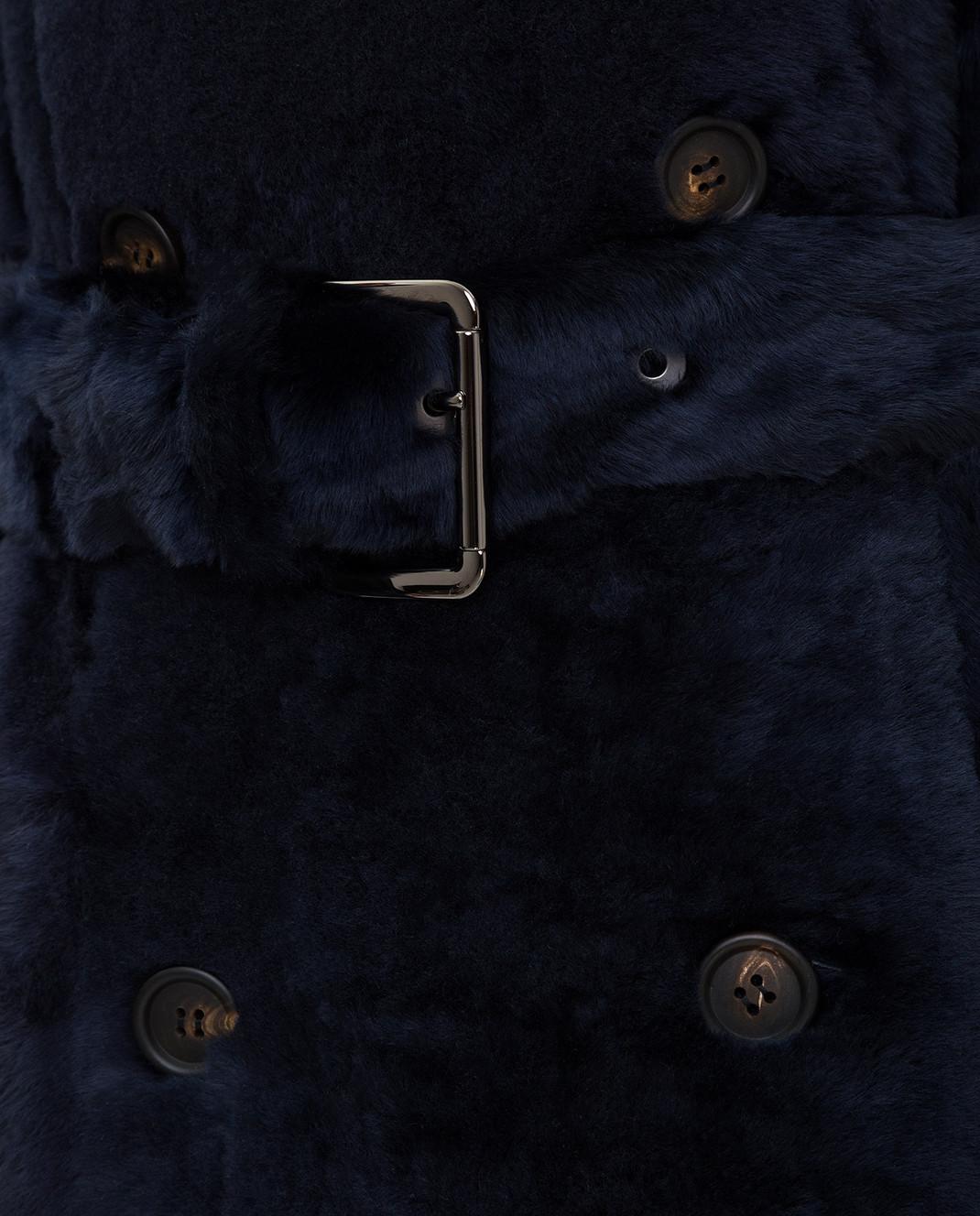 Brunello Cucinelli Темно-синяя шуба изображение 5