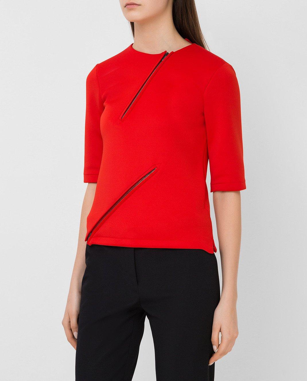 Bottega Veneta Красная футболка 405392 изображение 3