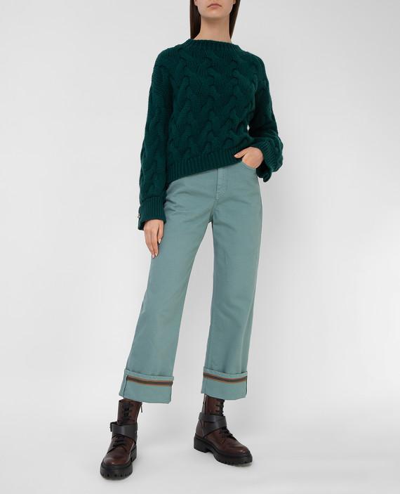 Бирюзовые джинсы hover
