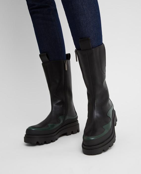 Черные кожаные ботинки hover