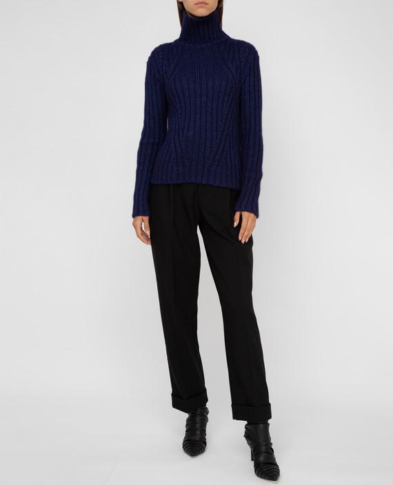 Темно-синий свитер из шелка, мохера и кашемира hover