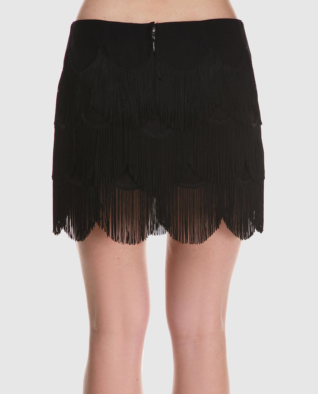 Marc Jacobs Черная юбка с бахромой M4007161 изображение 4