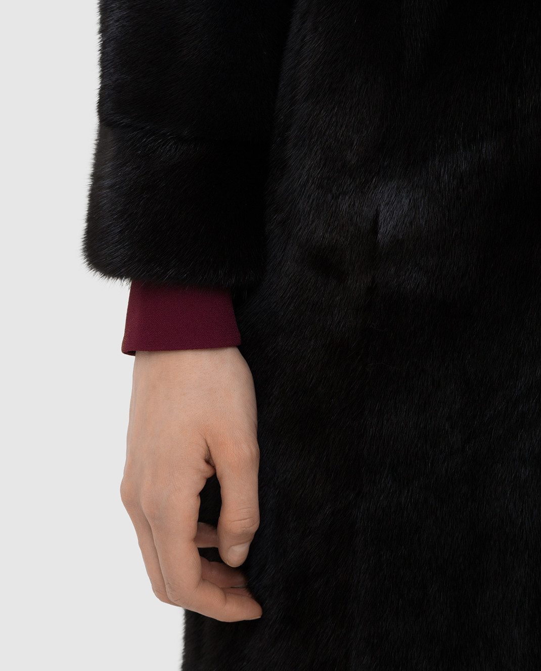 Rindi Черная шуба из меха норки изображение 5