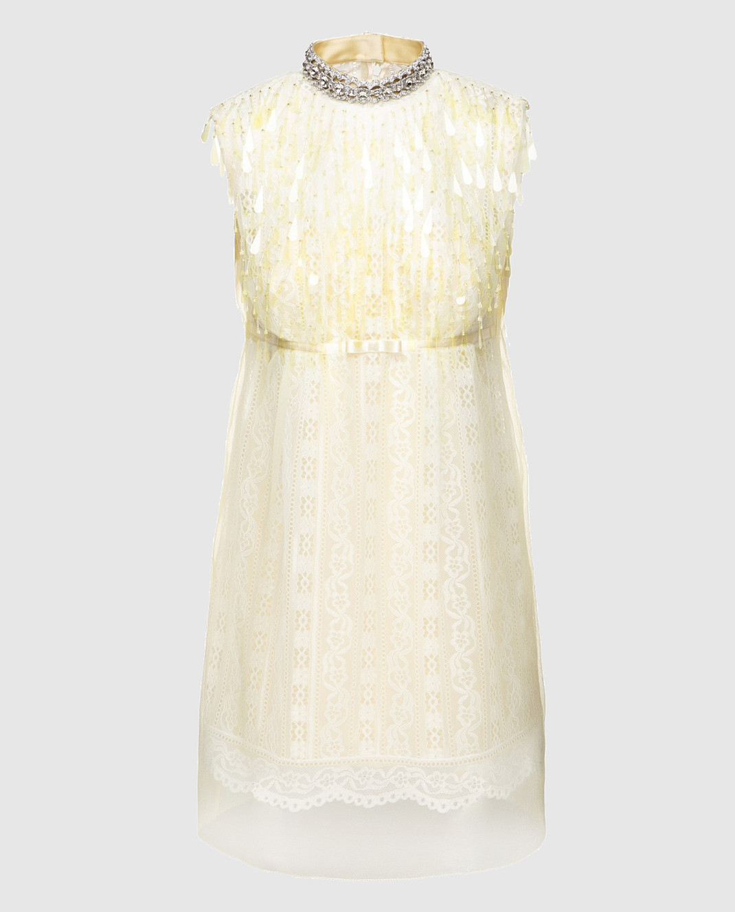 Marc Jacobs Желтое платье с кружевом M4007191