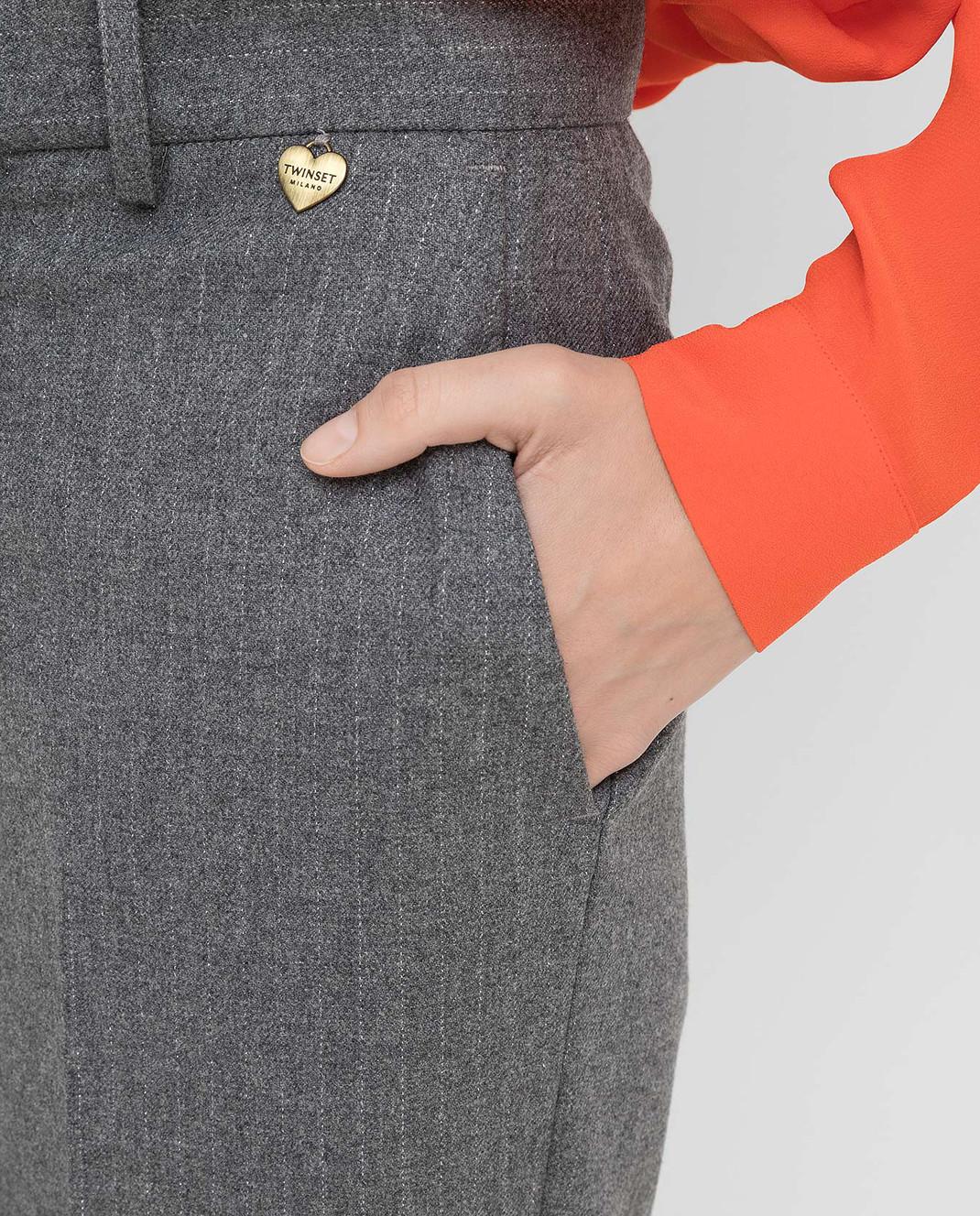 Twin Set Серые брюки изображение 5