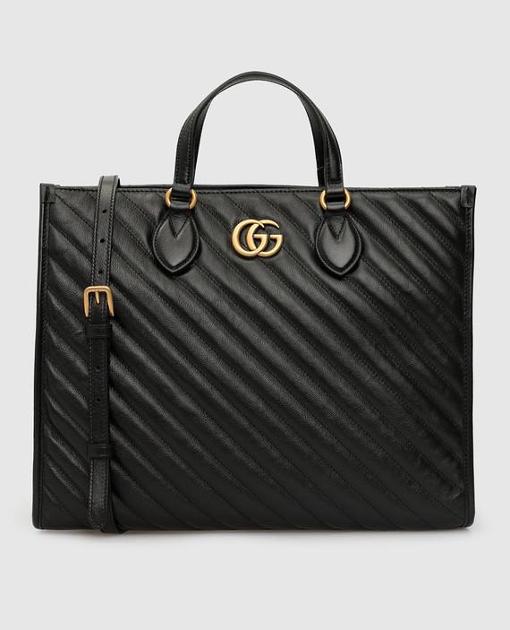 """Черная кожаная сумка """"Marmont"""""""