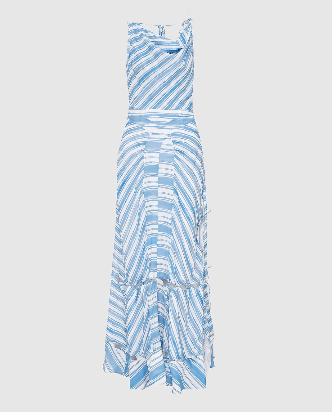 Altuzarra Голубое платье из шелка изображение 1