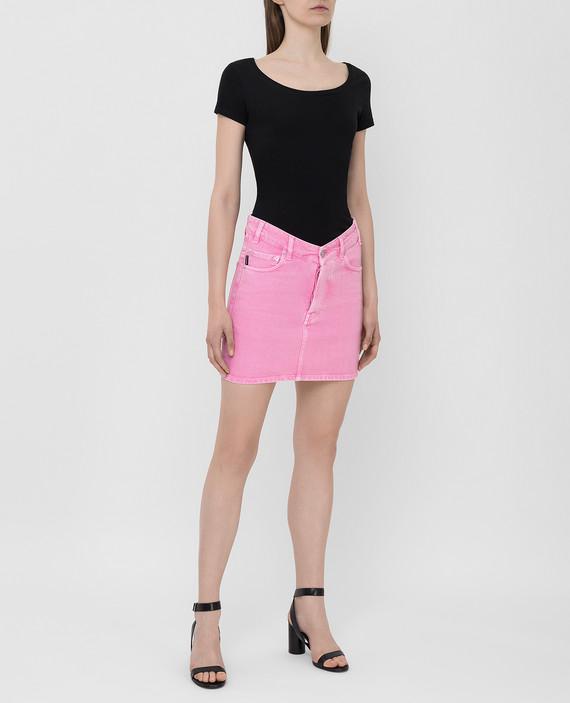 Розовая джинсовая юбка hover