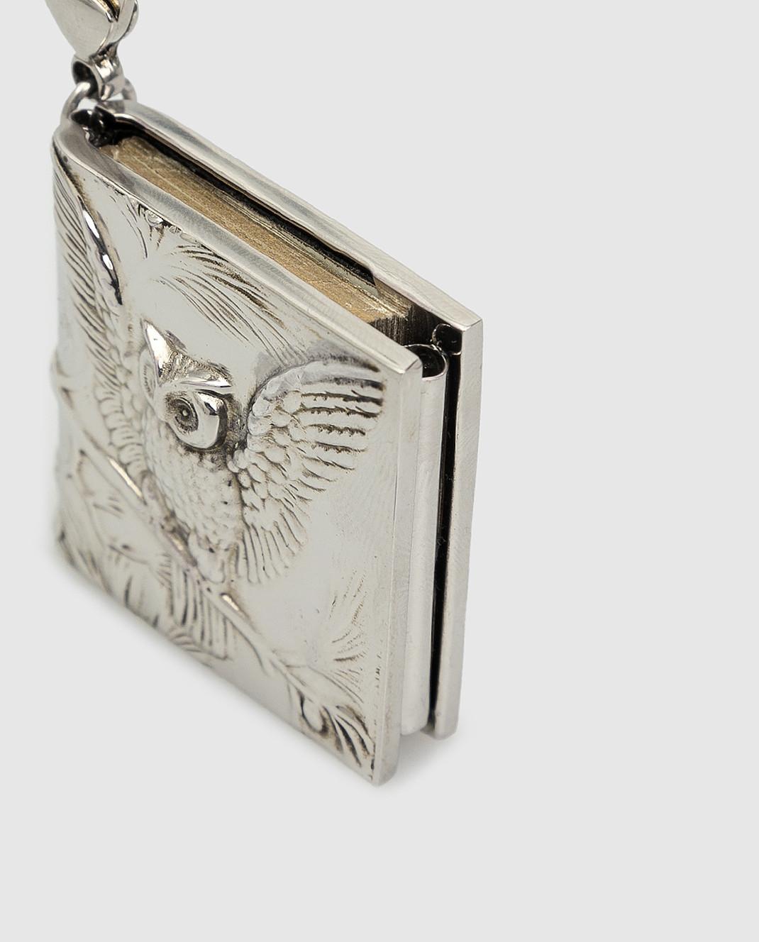 Alexander McQueen Серебристый брелок изображение 4
