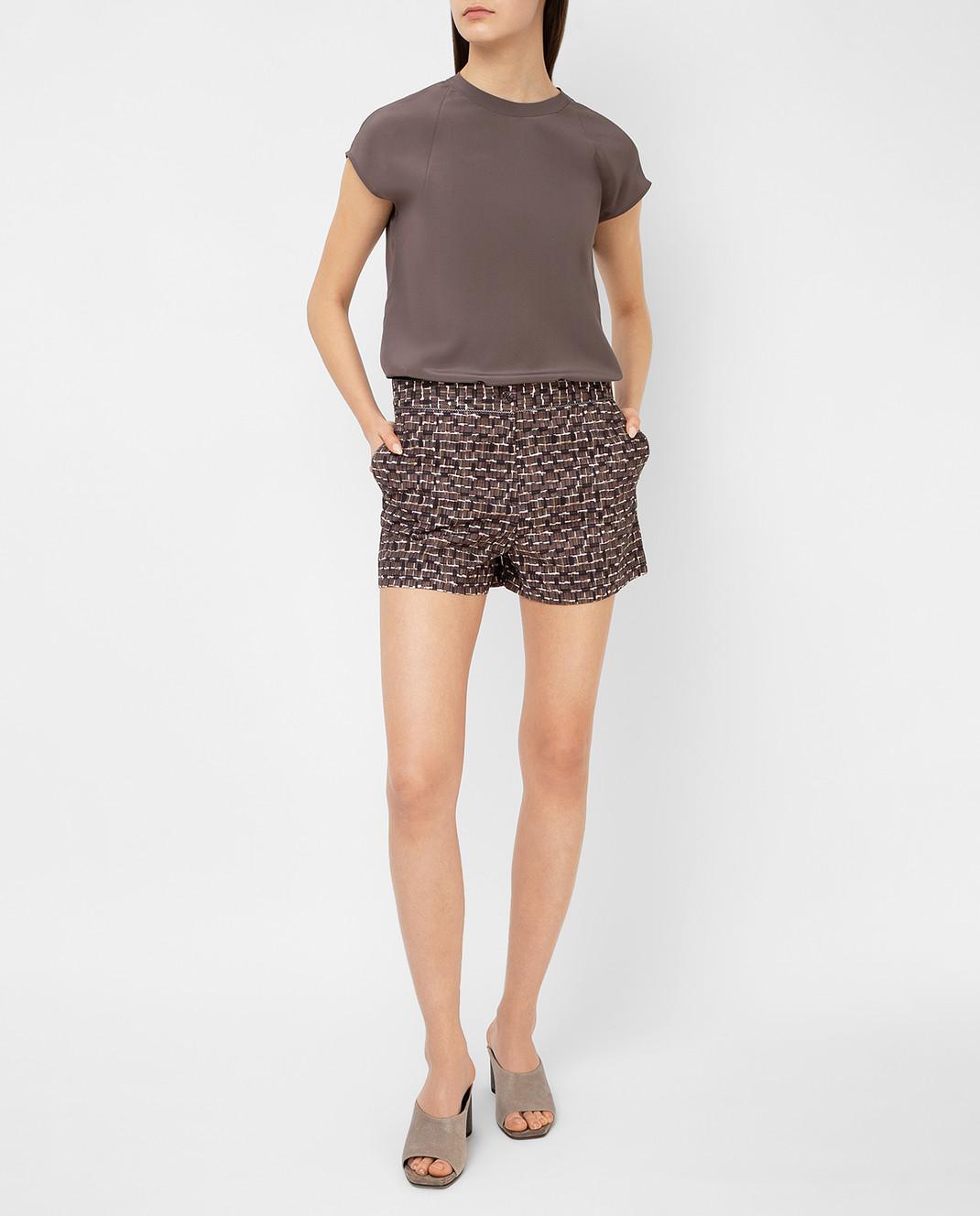 Bottega Veneta Коричневые шорты 448812 изображение 2