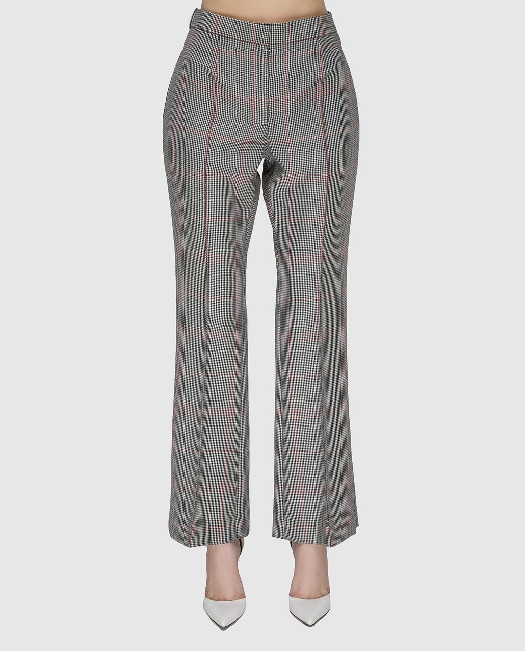NINA RICCI Серые брюки 17ECPA018WV0211 изображение 3