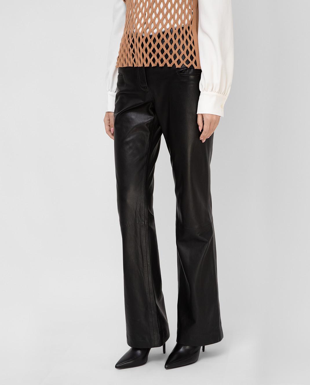 Altuzarra Черные кожаные брюки 318612796 изображение 3