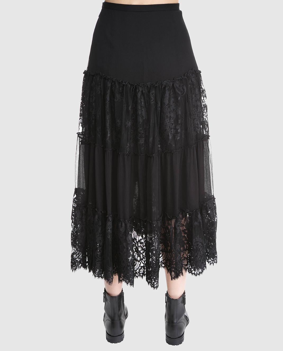 Ralph Lauren Черная юбка из шелка 211670984 изображение 4