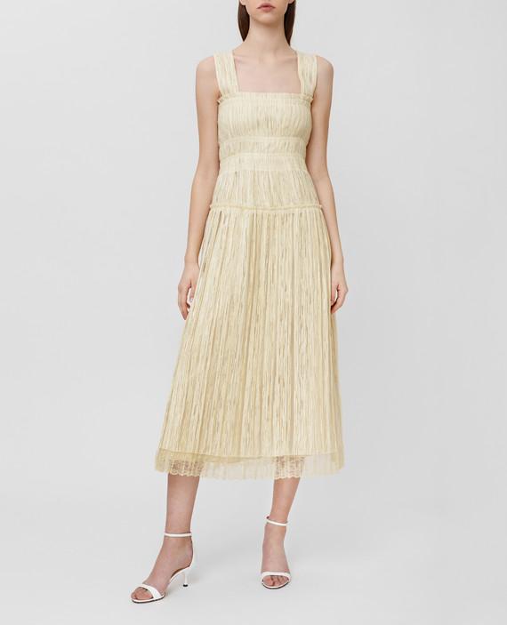 Желтое платье hover