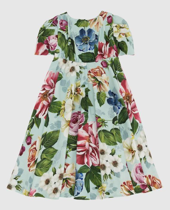 Детское мятное платье hover
