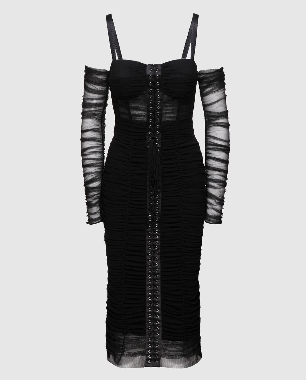 Dolce&Gabbana Черное платье F6A9QTFLEAA