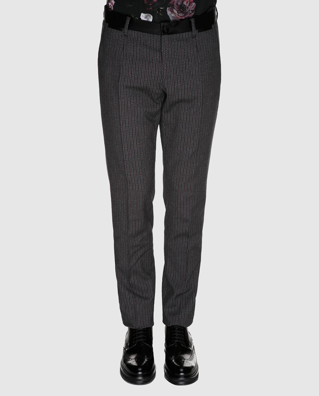 Dolce&Gabbana Бордовые брюки GYA5MTFRCB0 изображение 3