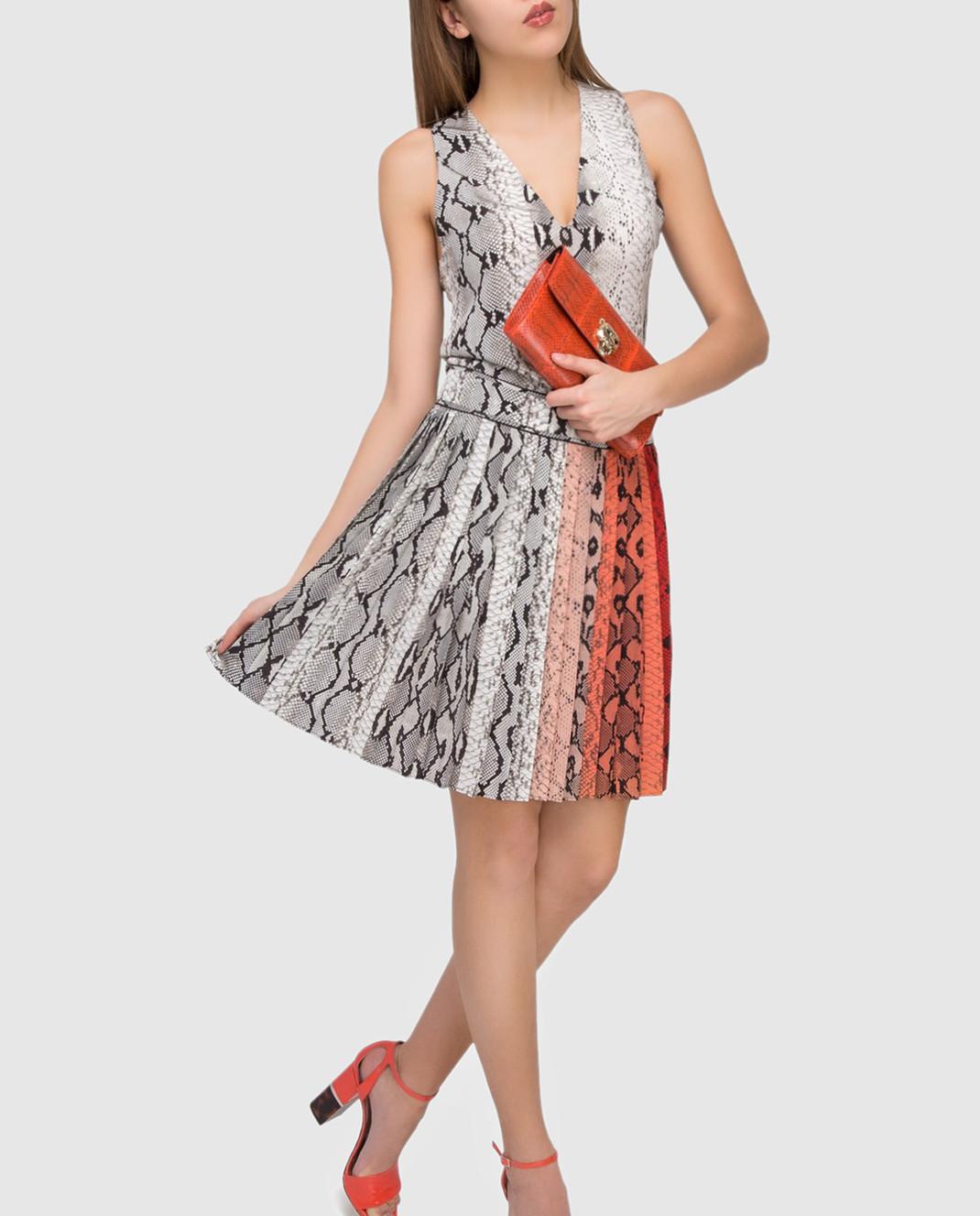 Roberto Cavalli Платье из шелка AKT172 изображение 2