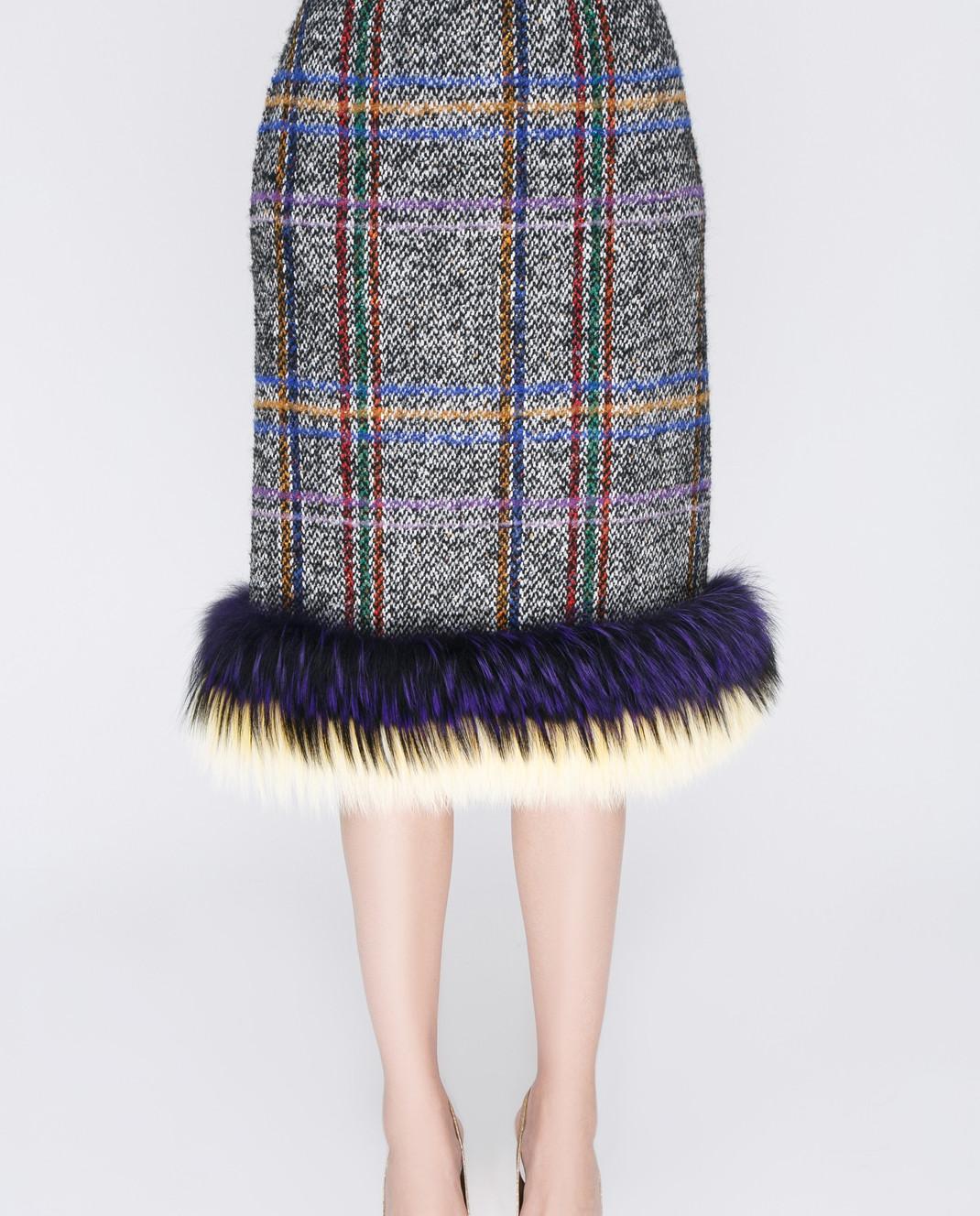 Simonetta Ravizza Серая юбка изображение 5