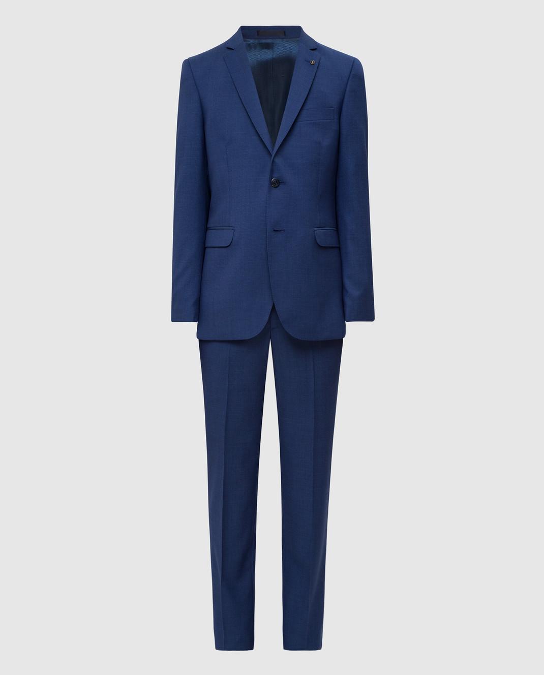 Florentino Синий костюм из шерсти изображение 1