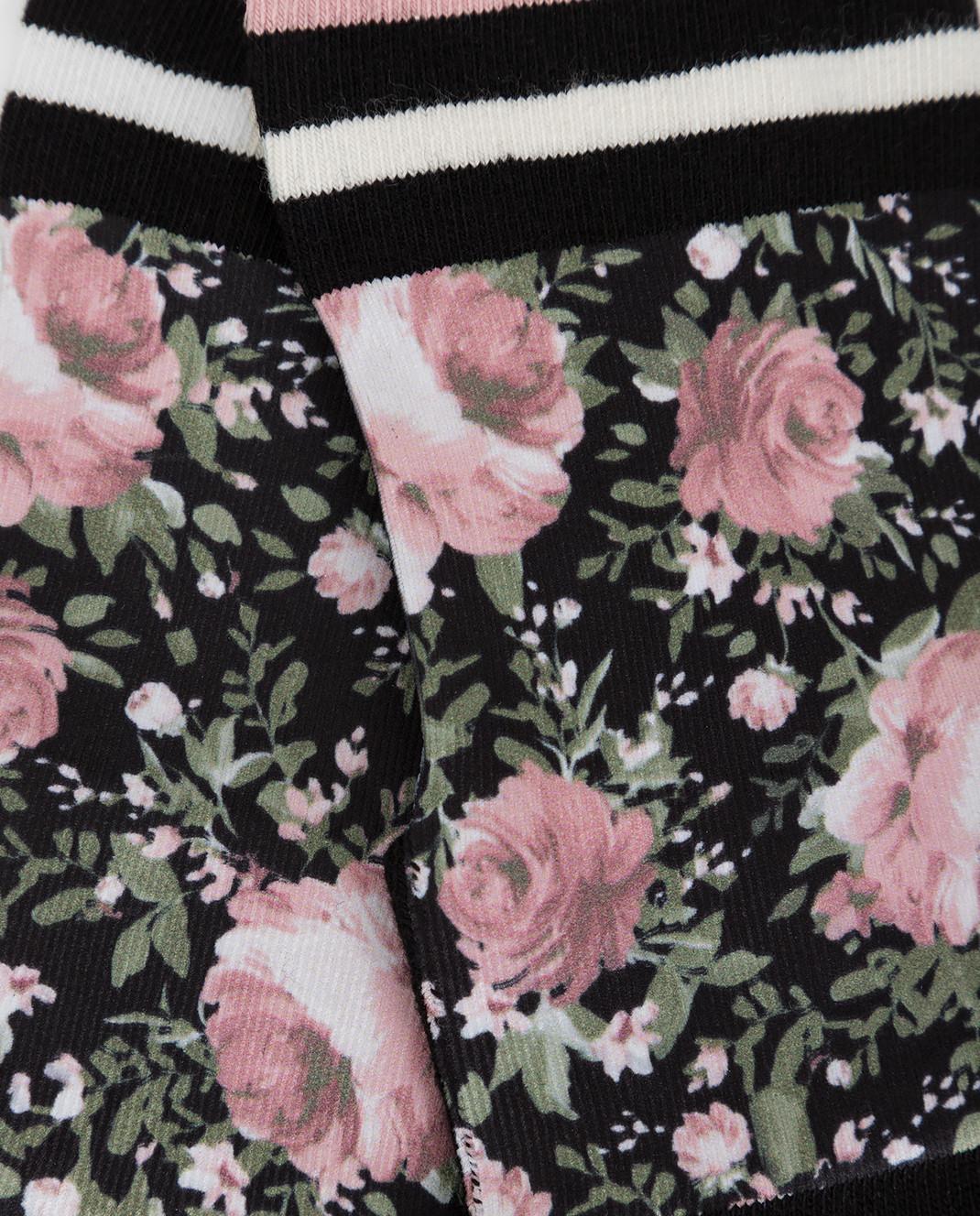 Twin Set Детские черные носки GA8ABN изображение 3