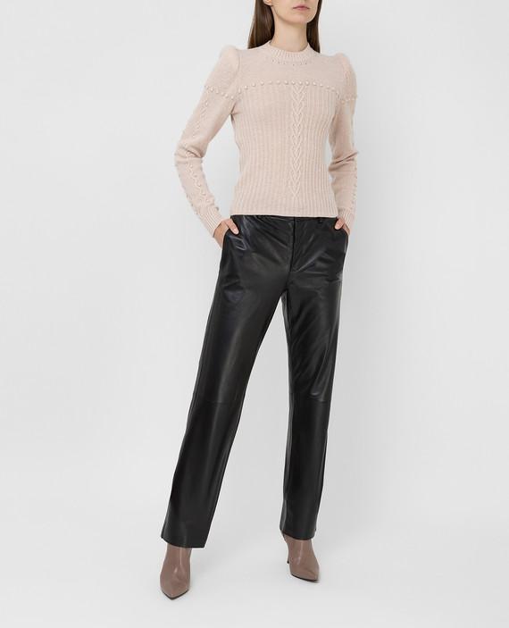 Черные кожаные брюки hover