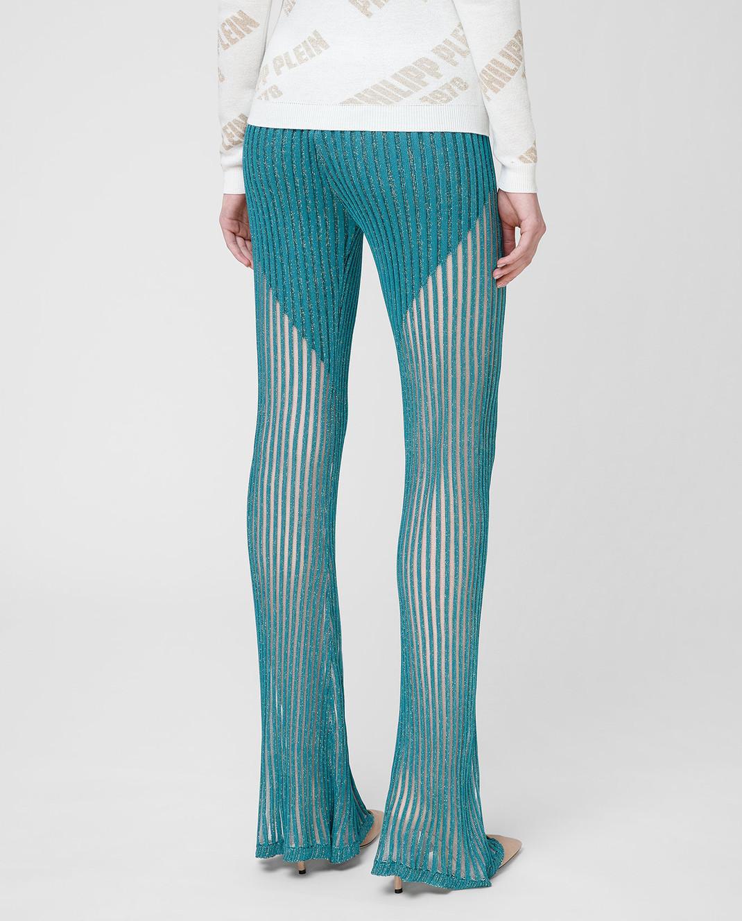 Philipp Plein Бирюзовые брюки WRT0466 изображение 4