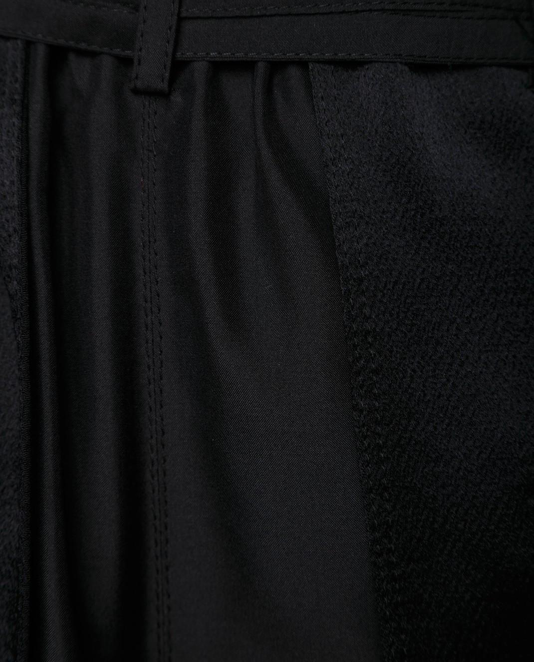 Valentino Черные шорты из шелка и хлопка PB0RF0N637C изображение 6