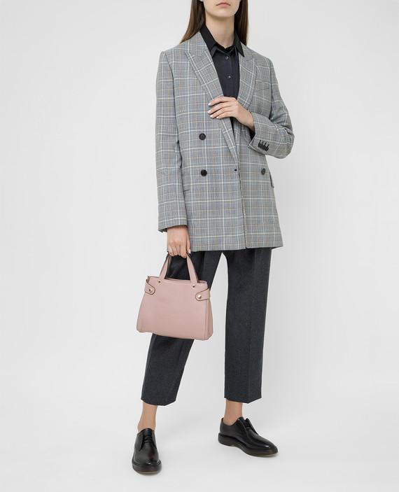 Розовая кожаная сумка hover