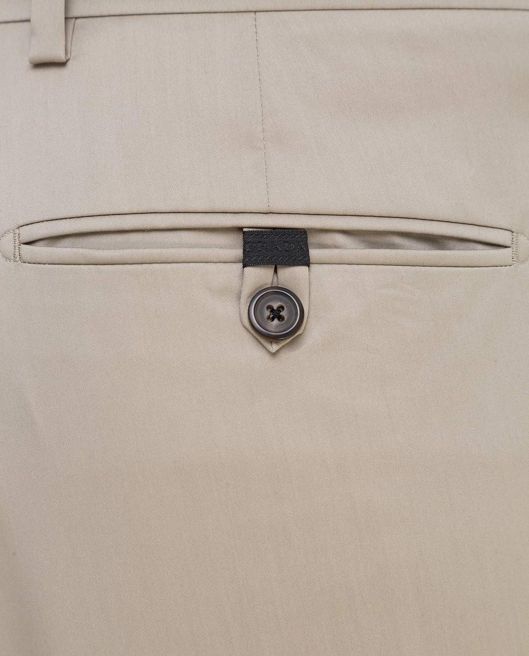 Prada Серые брюки UPA8411VSD изображение 5
