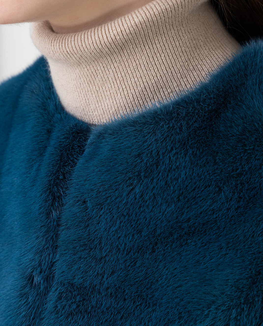 Fabio Gavazzi Синяя шуба из меха норки 9VI000F18FG92PIVR изображение 5