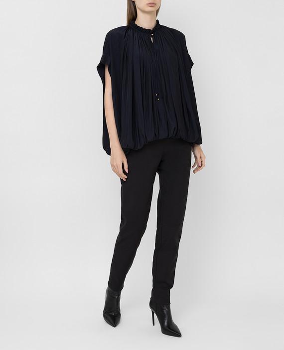 Темно-синяя блуза hover