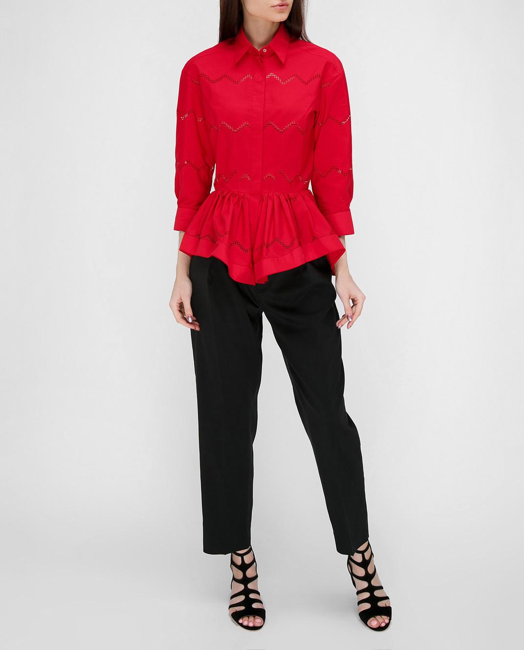 Azzedine Alaia Красная блуза 7S9C081RTL49 изображение 2