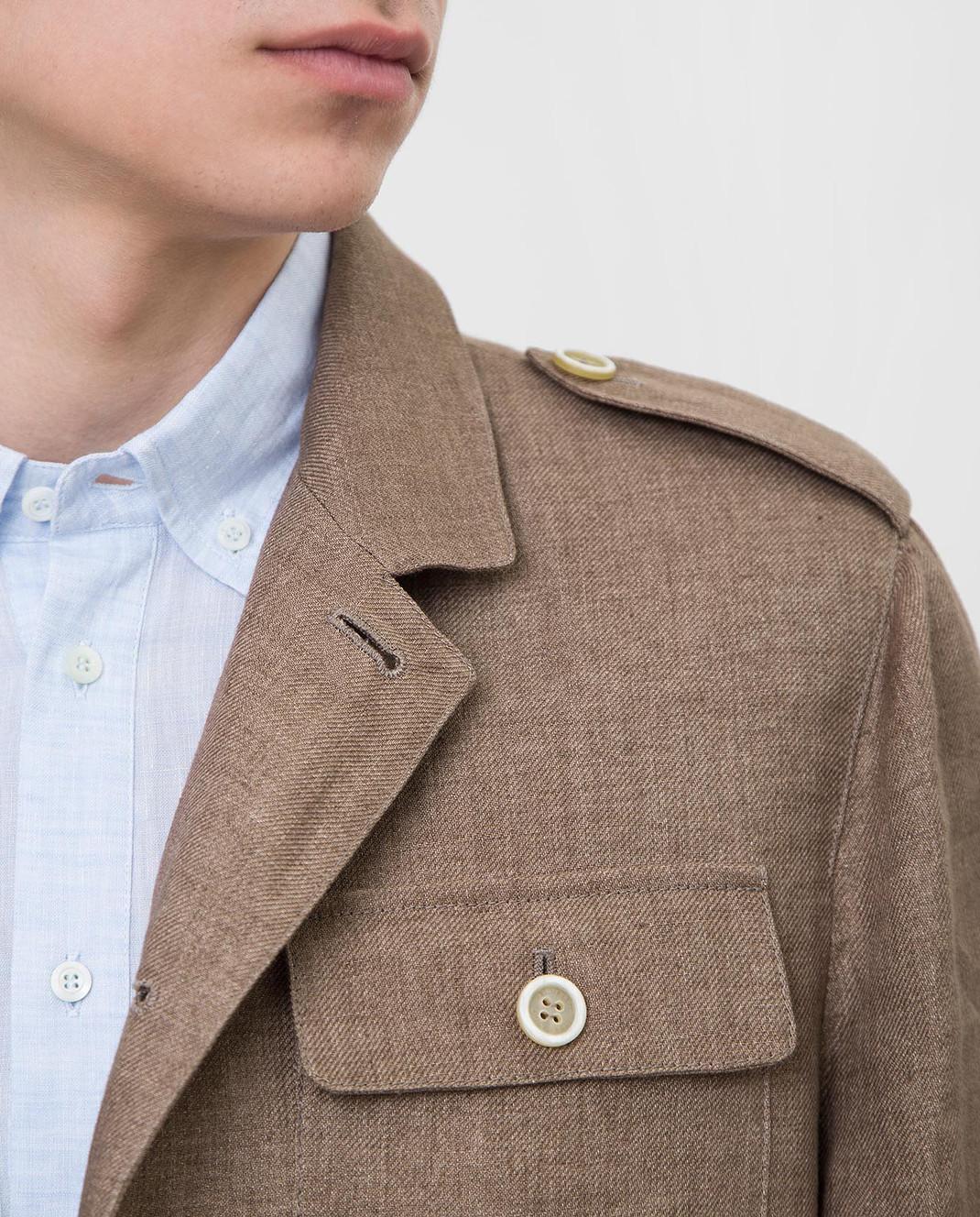 Brunello Cucinelli Коричневая куртка MD4176849 изображение 5