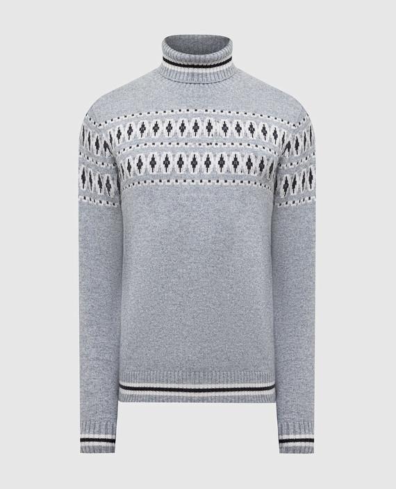 Серый свитер из кашемира и шелка