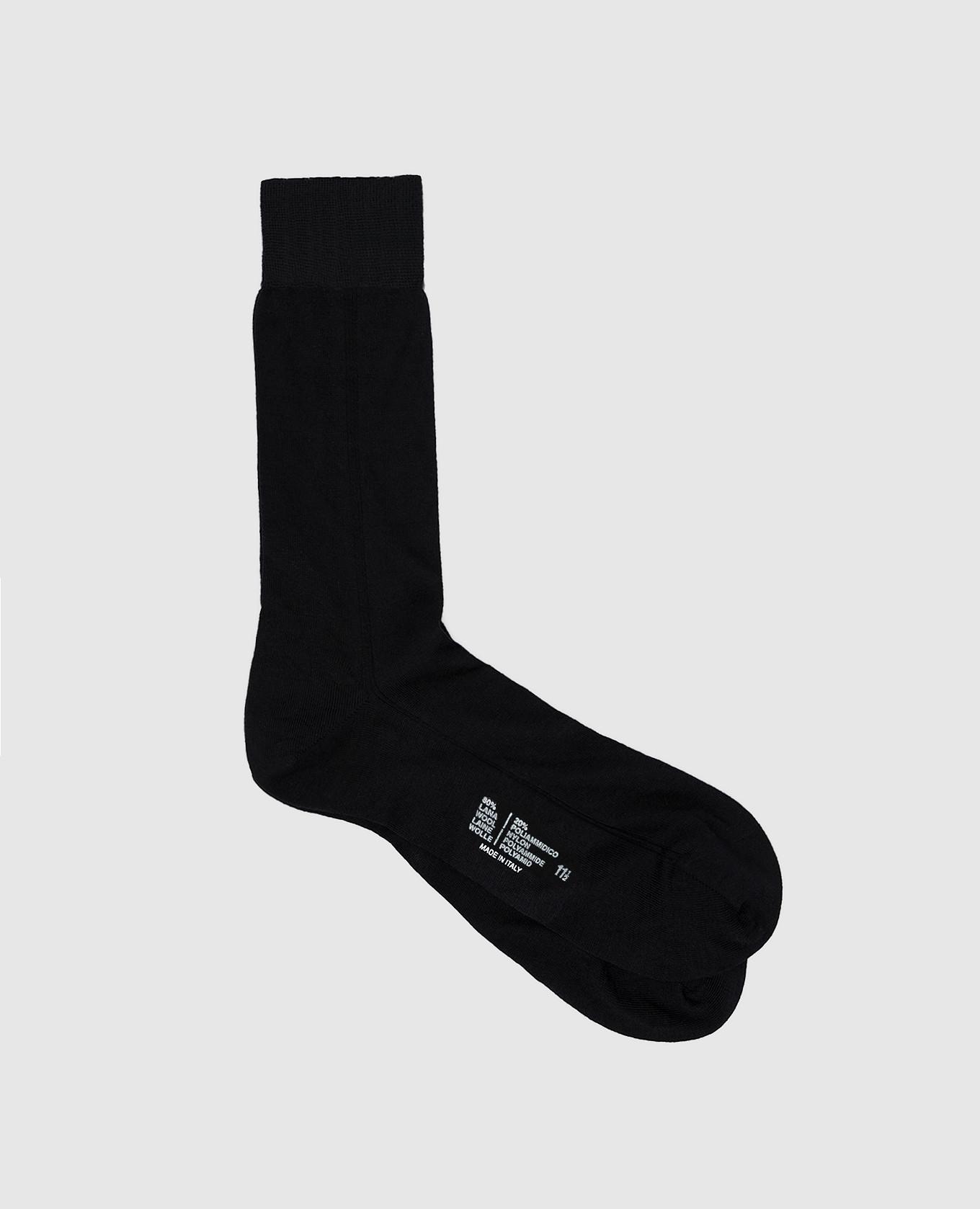 Черные носки из шерсти