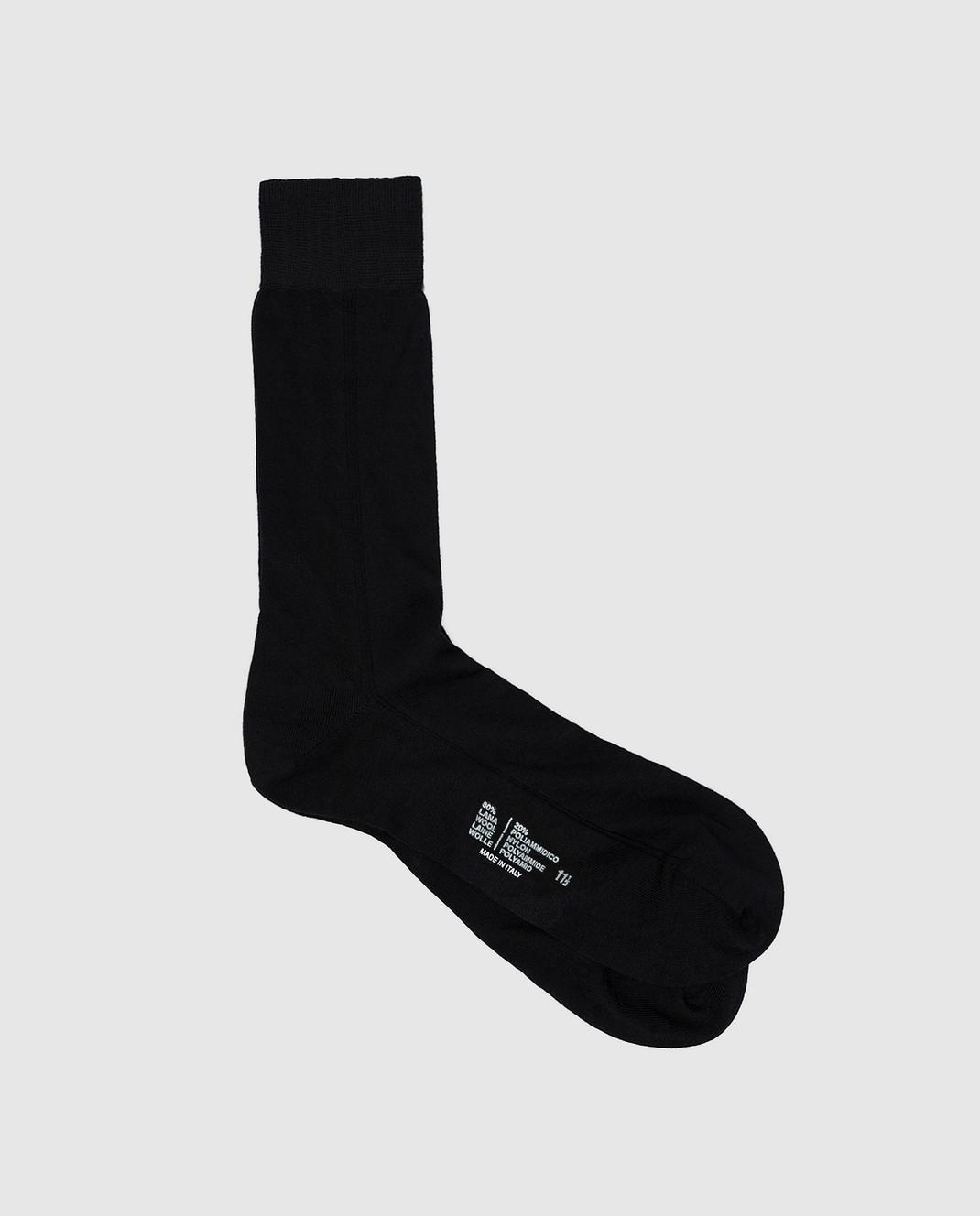 RiminiVeste Черные носки из шерсти WN8011EMINENCE