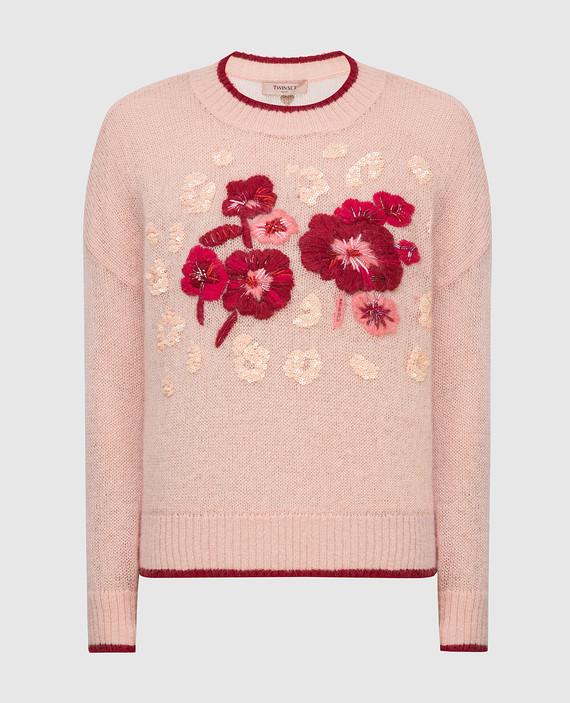 Пудровый свитер