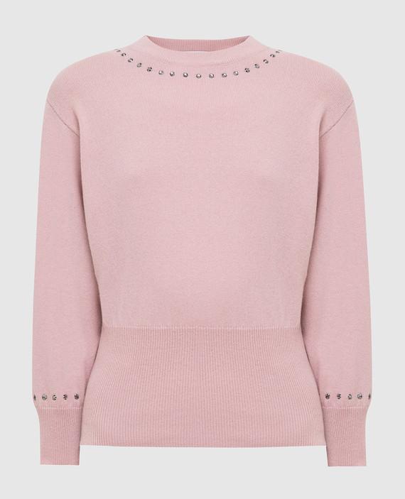 Светло-розовый джемпер из шерсти и кашемира