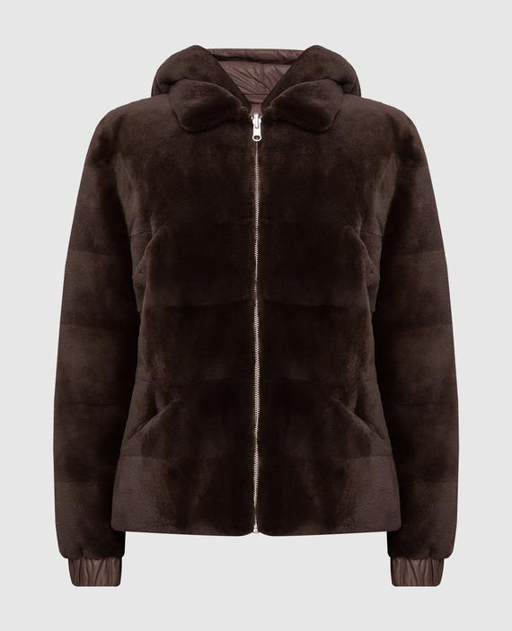 Двухсторонняя куртка с мехом норки