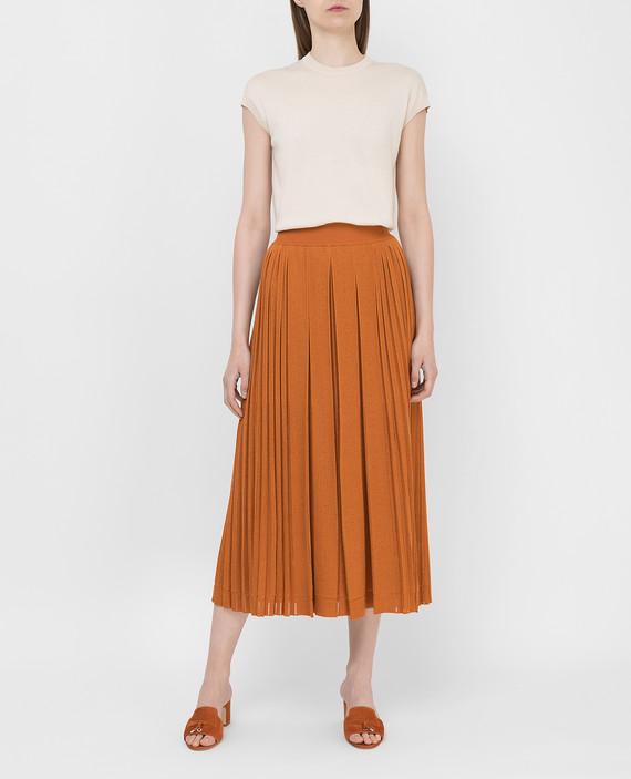 Оранжевая юбка из шелка hover