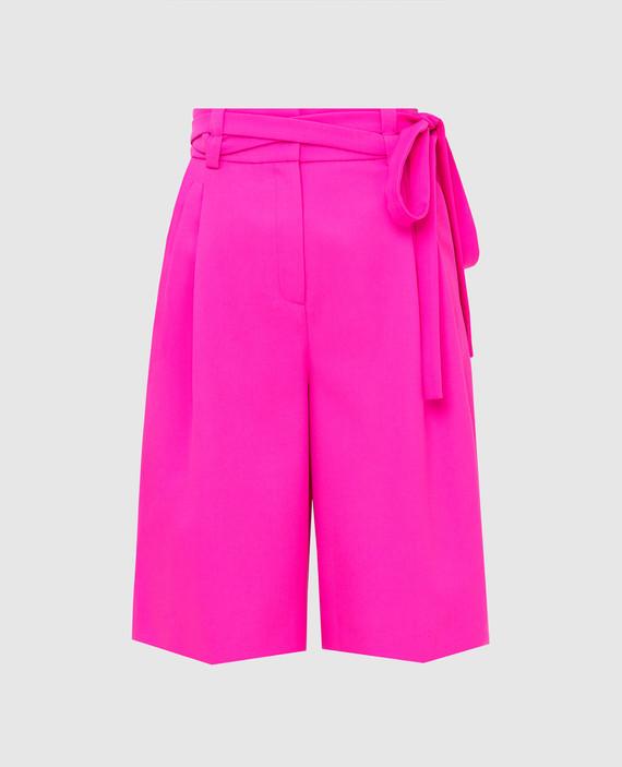 Розовые шорты из шерсти