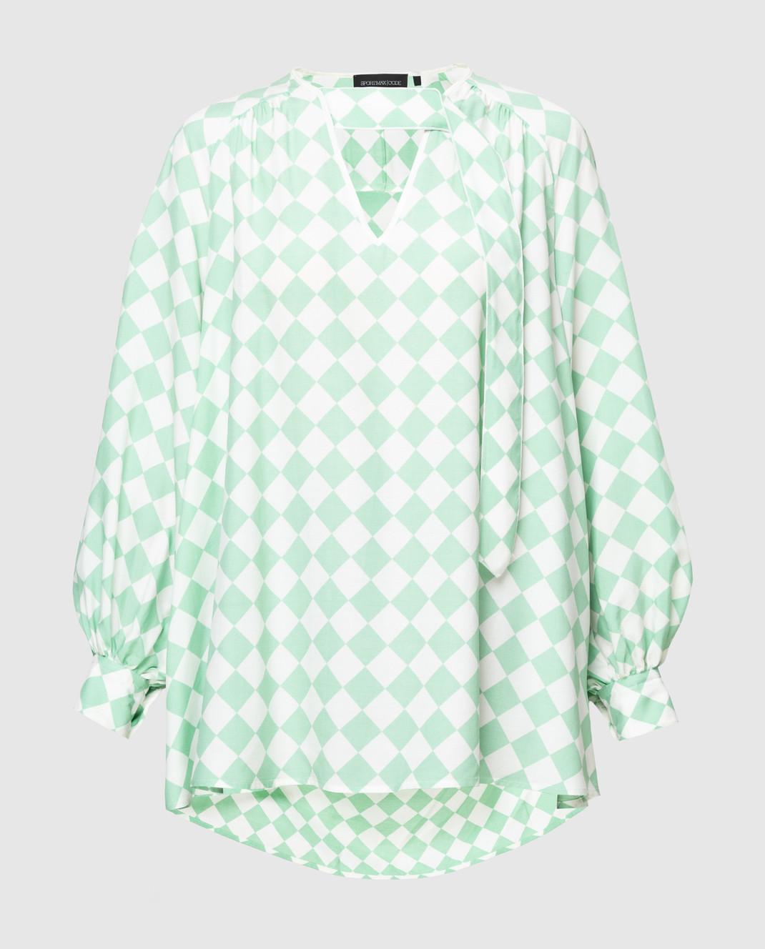 Max Mara Sportmax Code Мятная блуза изображение 1