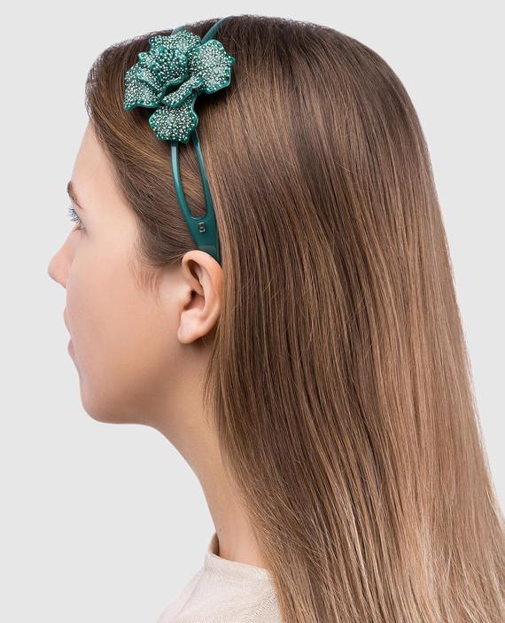 Зеленый обруч для волос AcapulcoJungle hover