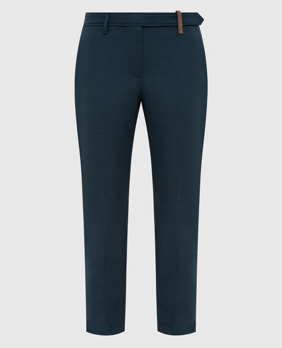 Темно-бирюзовые брюки